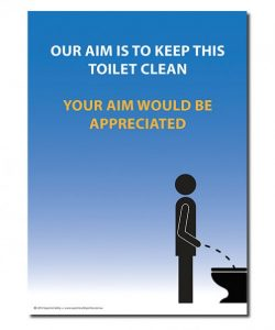 A safety poster for the toilet