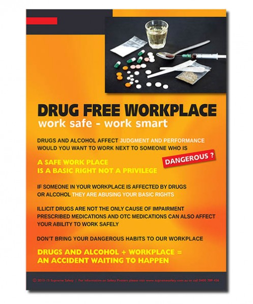 Safety poster - drug free workplace