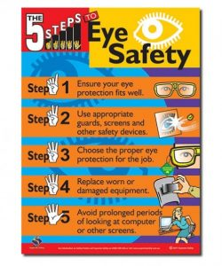 A eye safety safety poster