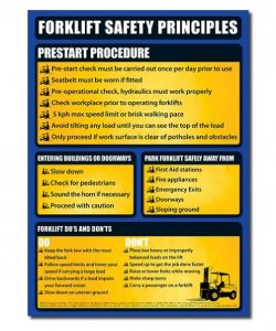 safety posters for forklift safety