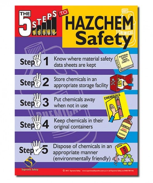 safety posters for Hazchem