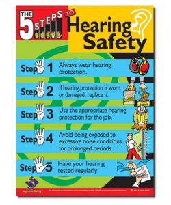 safety poster for hearing safety in the work place