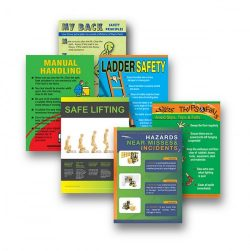 Injury prevention posters for work place