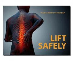 The lft safely poster - avoid a lifetime of back pain