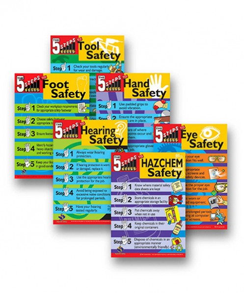Range of safety posters for the work place