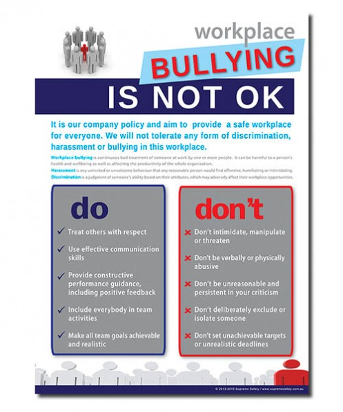 A poster for stop bullying