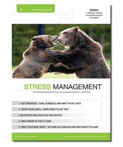 A great stress management poster for the workplace