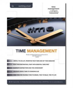 A great time management poster showing how to best manage time in your workplace
