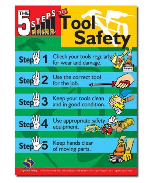 safety posters for tool safety in the work place