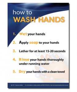 Safety posters for washing your hands