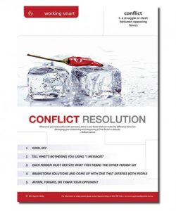 A safety poster for workplace conflict resolution solutions