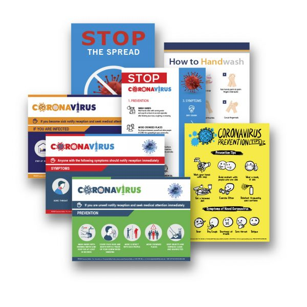 Buy a range of Corona Virus safety posters together and save