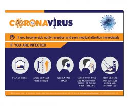 A safety poster showing what you must do if you are infected with COVID-19, Corona Virus